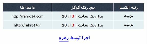رهرو با رنک 3